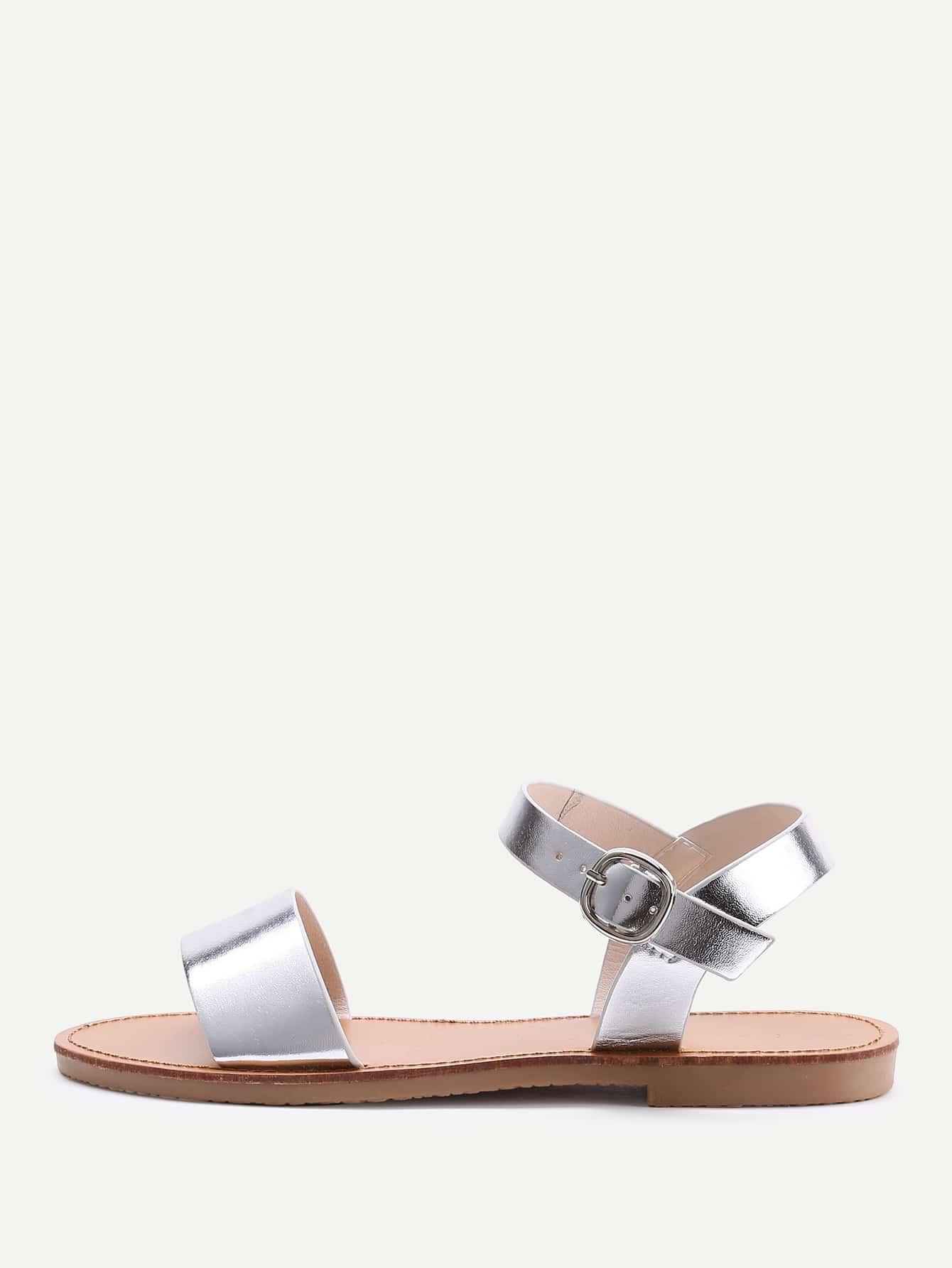 Фото Metallic Flat Sandals. Купить с доставкой