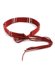 Eyelet Tie Belt