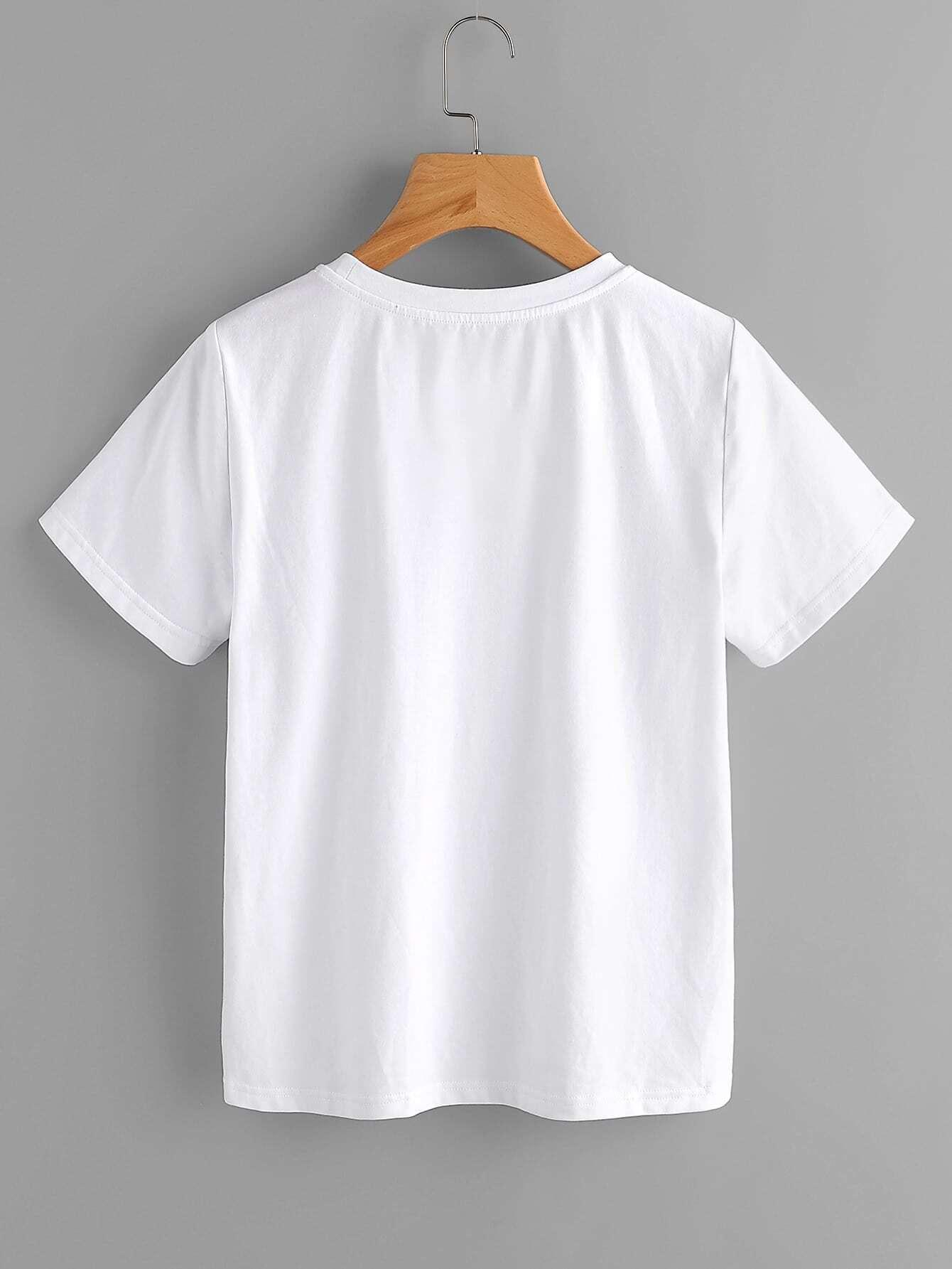 Closed Eyes Print T-shirt