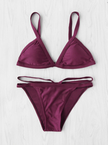 Double Strap Triangle Bikini Set