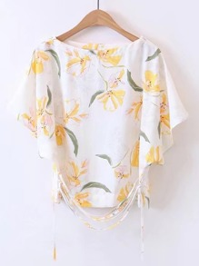 Batwing Top With Strappy Detail