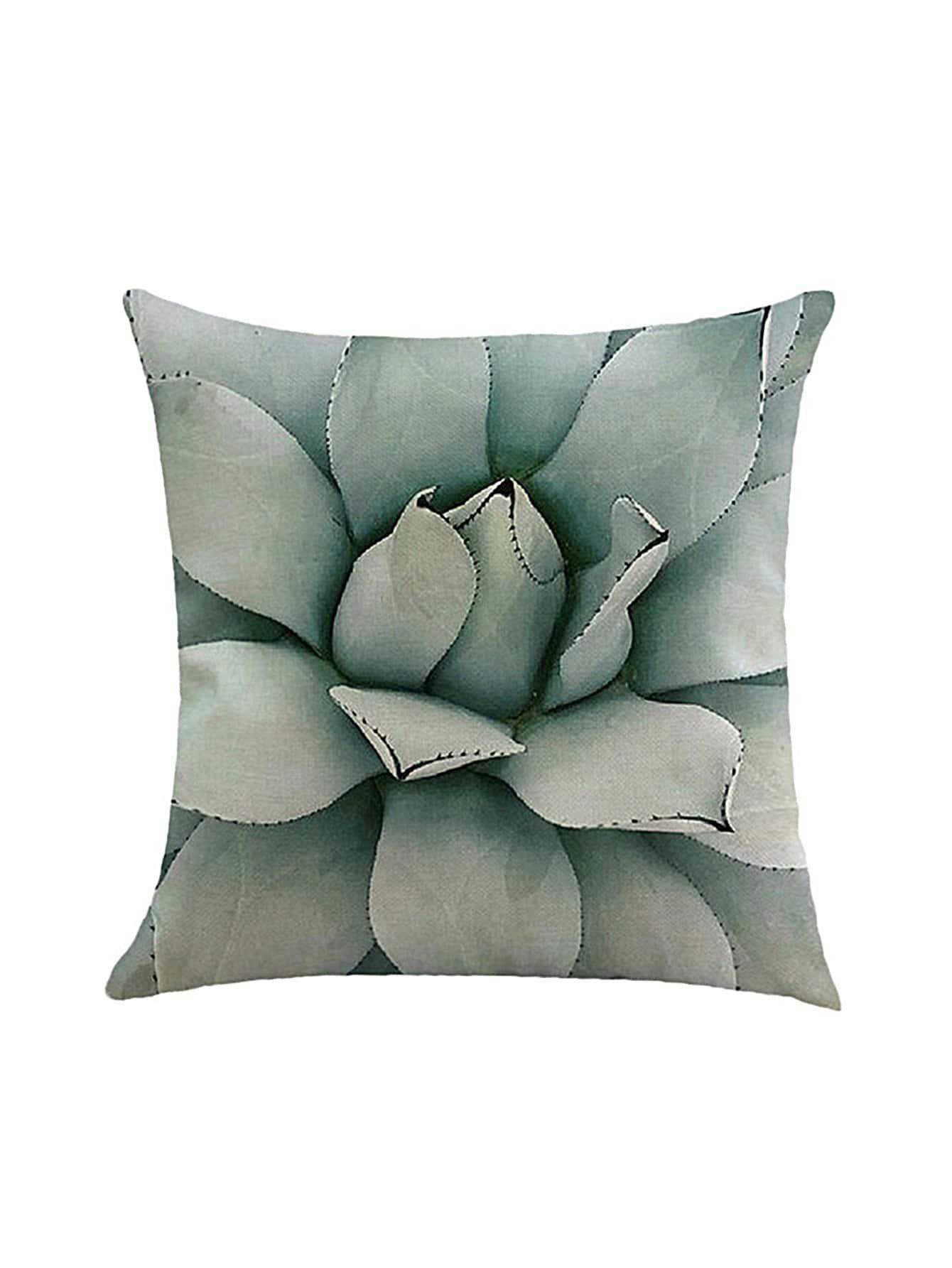 Фото Plant Leaf Print Pillowcase Cover. Купить с доставкой