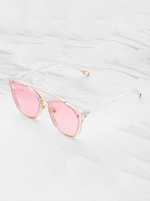Gafas de sol con barra superior de metal