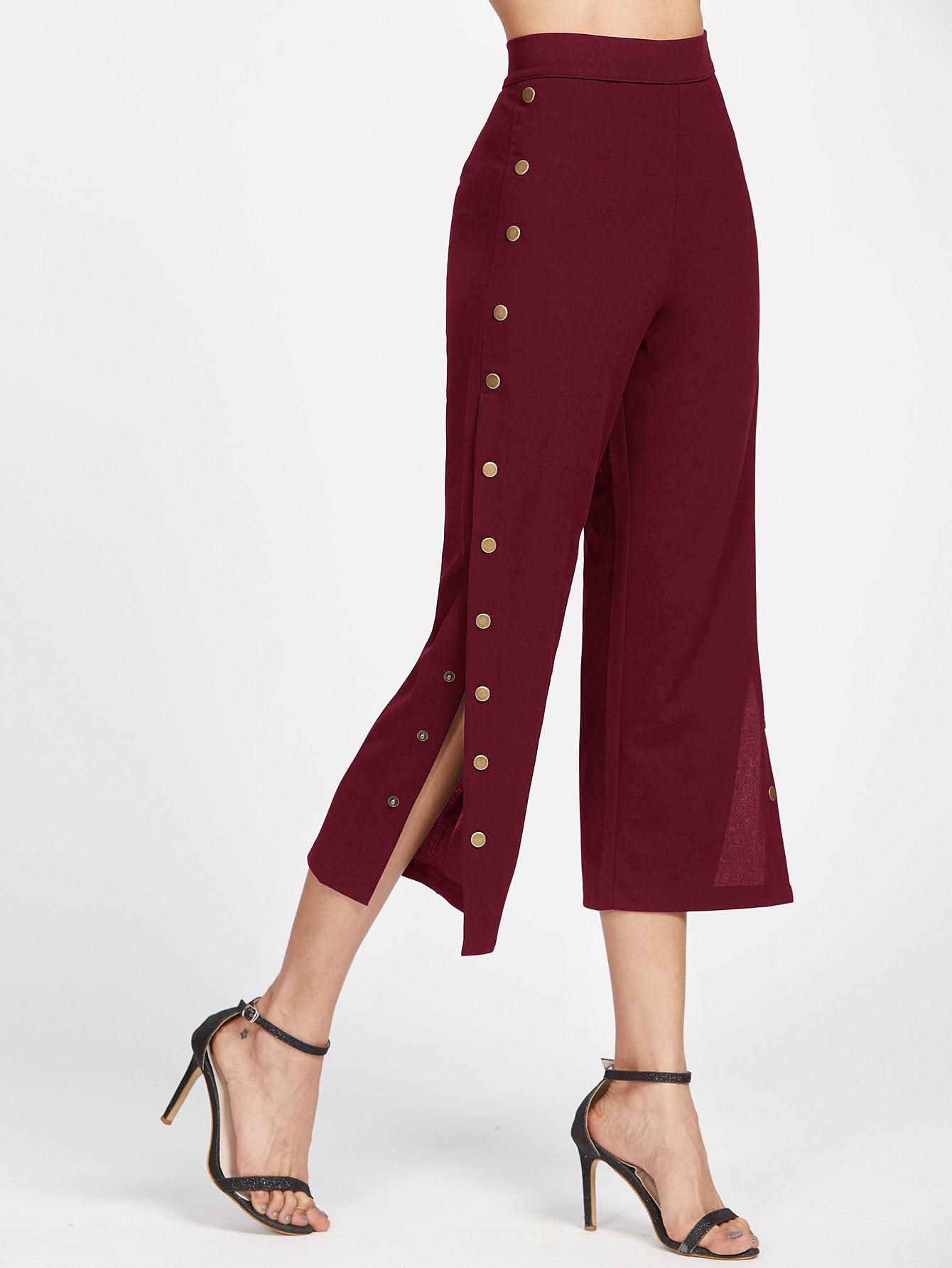 Metal Button Side Pants pants170605101
