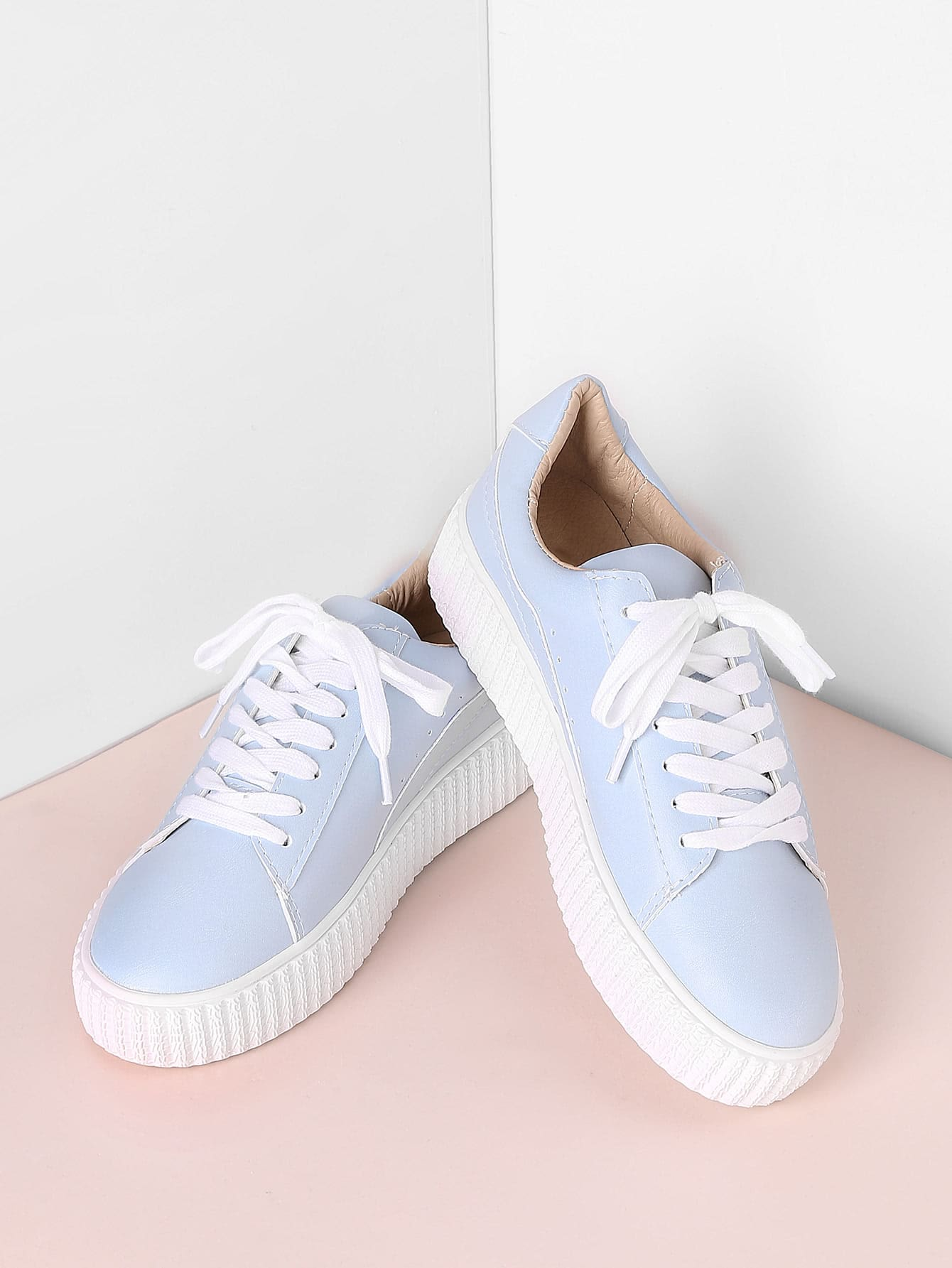 Lace Up Rubber Sole Low Top Sneakers thumbnail