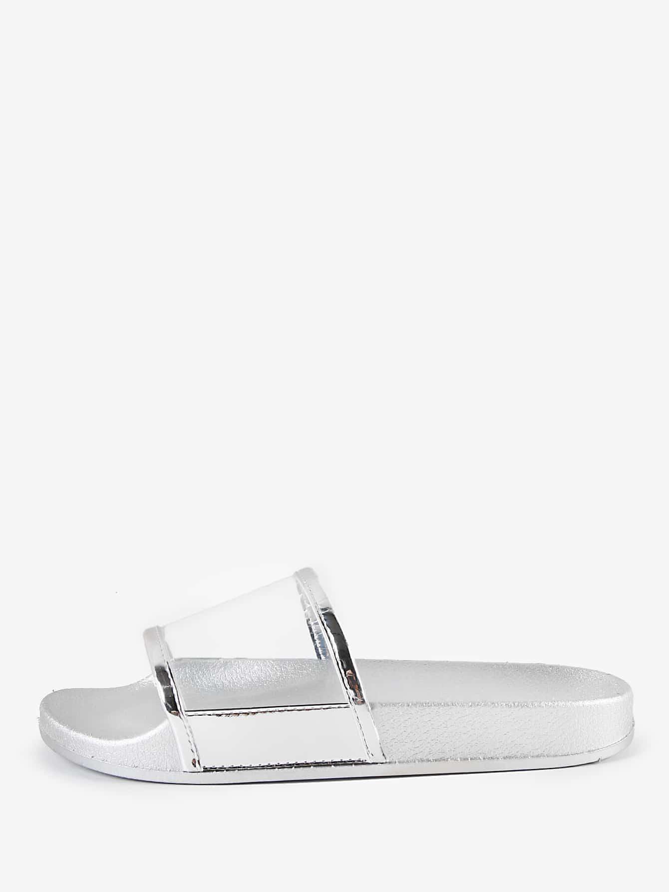 Фото Metallic Open Toe Sandals. Купить с доставкой