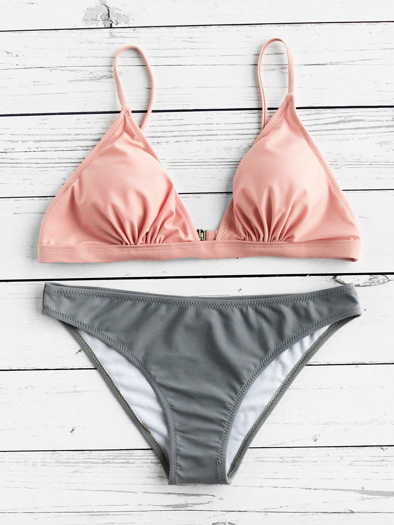 Фото Two Tone Triangle Bikini Set. Купить с доставкой