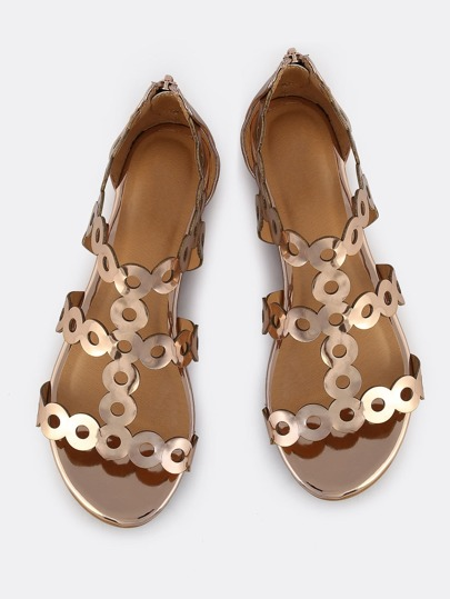 Circular Patent Sandals ROSE GOLD