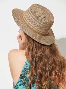 Woven Band Straw Hat