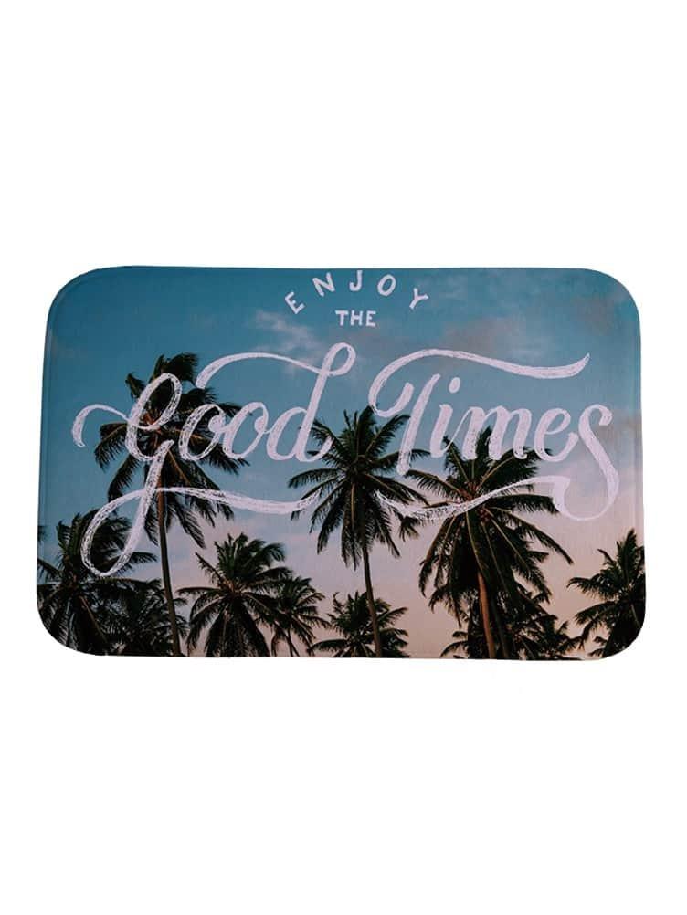 Фото Palm Tree Print Carpet. Купить с доставкой