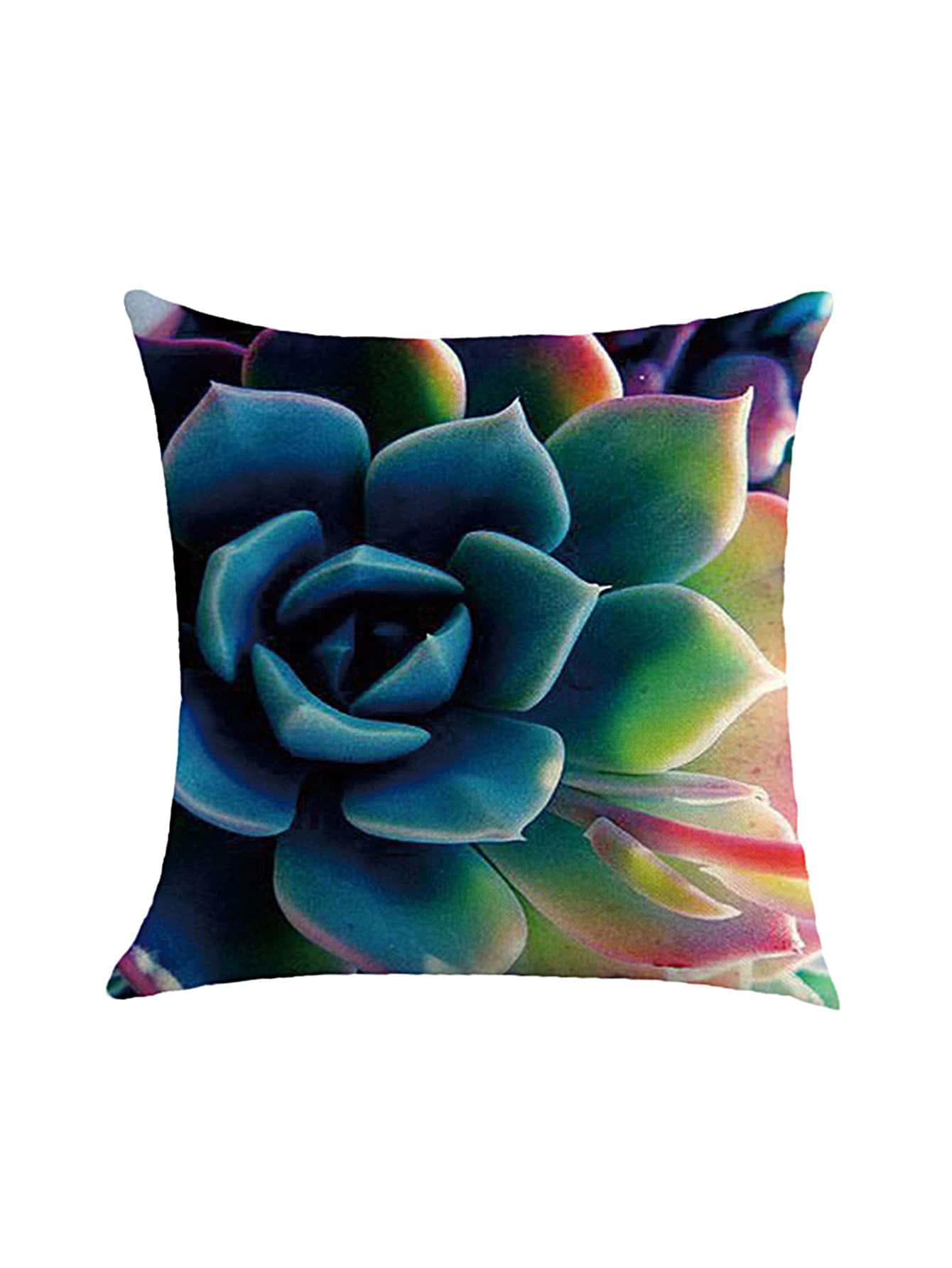 Succulent Plant Leaf Print Pillowcase Cover