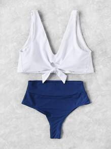 Set tankini con nudo en la parte delantera mix and match