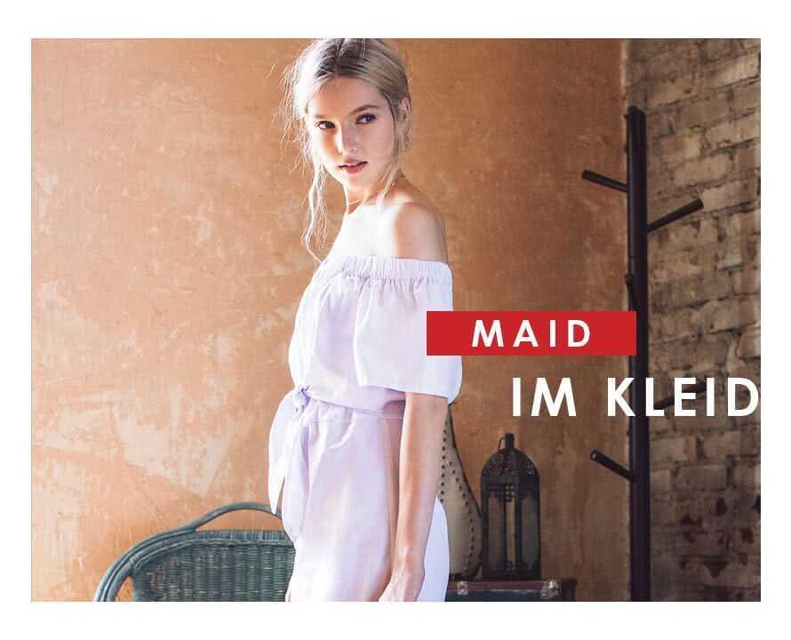 Maid im Kleid