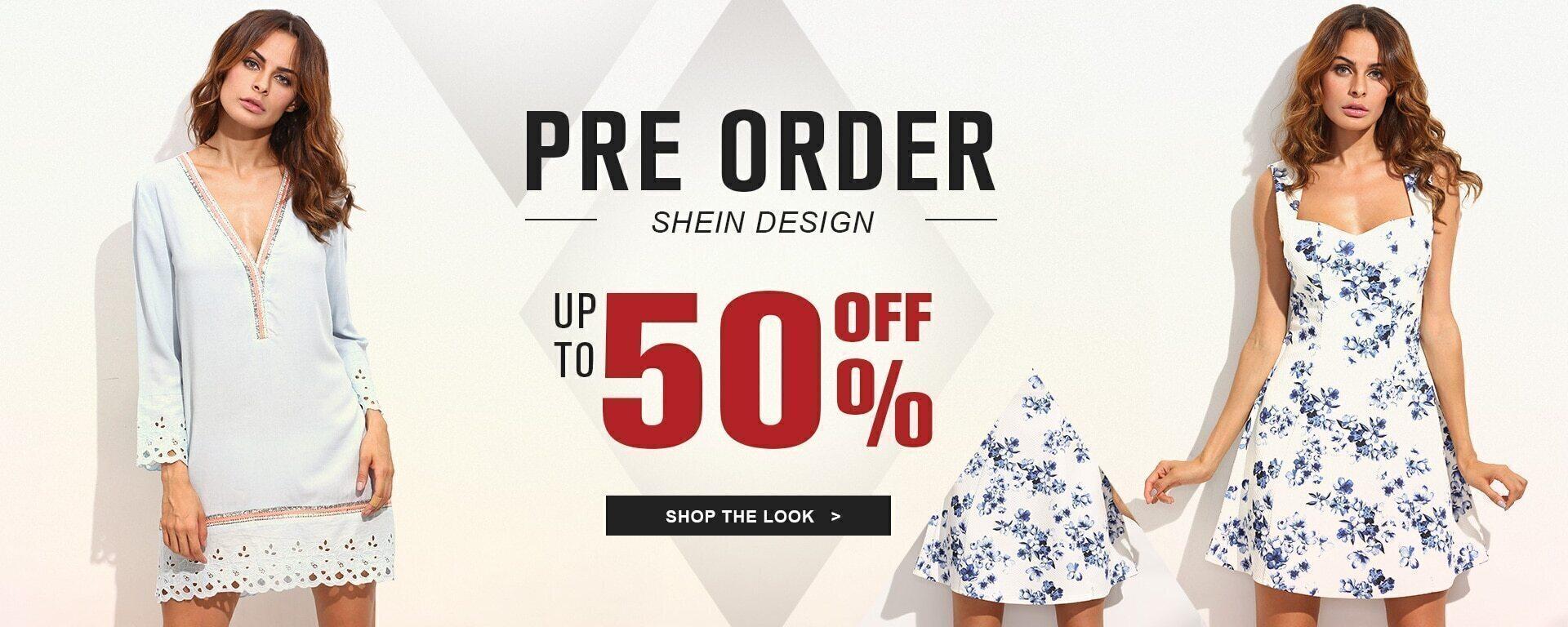 SHEIN DESIGN PRE ORDER