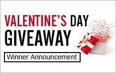 Valentine Giveaway winner announcement