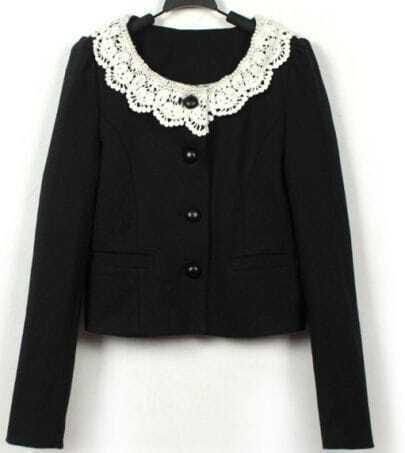 Slim lace collar cardigan Coat