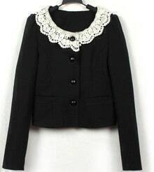 Slim lace collar cardigan Coat