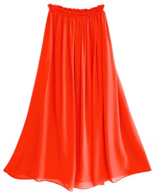 Длинные Оранжевые Юбки