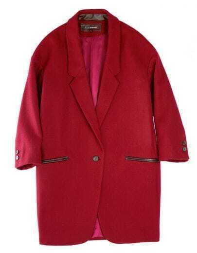 Vintage Designer 70% Wool Coat Dark red