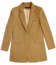 Winter Long Wool Suit Camel