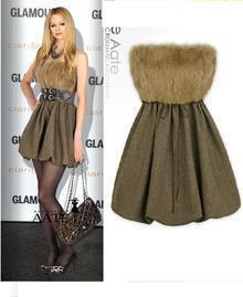 Brown Elegant Strapless Mini Celebrity Dress