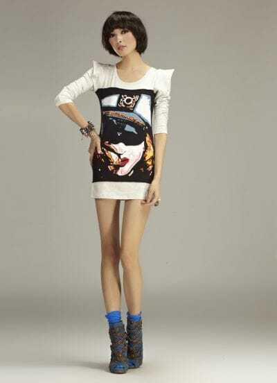 White 100%Cotton Long Sleeve Slim T-shirt