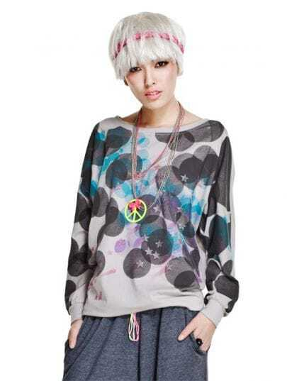 Fashionable Printing Long Sleeve T-shirt