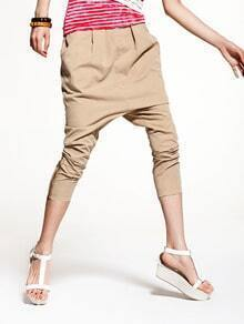 Fashion Khaki Solid Harem Pants