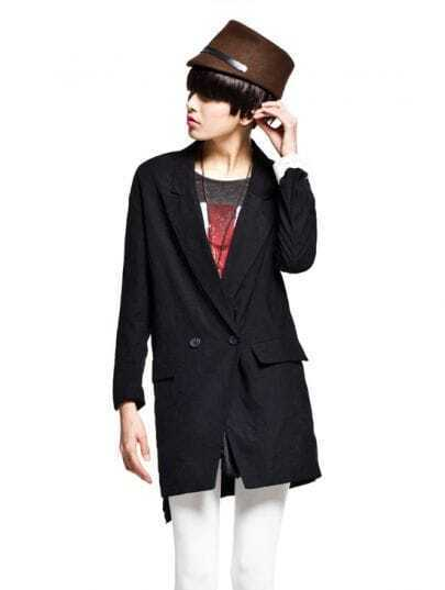 Black Straight Loose Long Suit