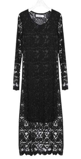 Lace Slim Sexy Black Spring Dress