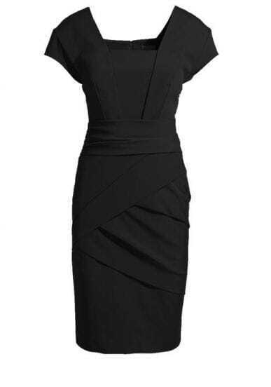 Black Kate Middleton Elegant Fitted Dress