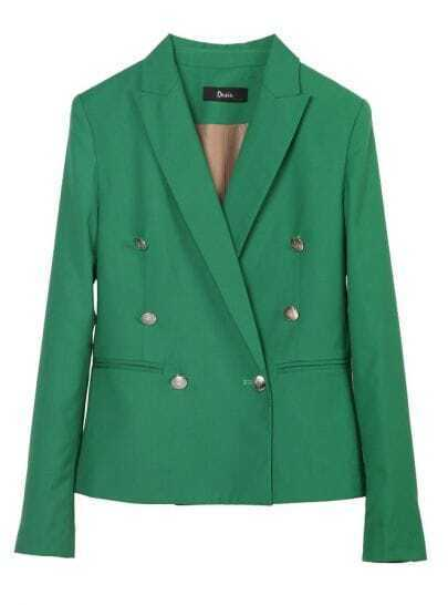 Green Double-breasted Fashion Short Suit