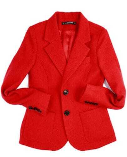 Red Classic Wool Long Sleeve Suit