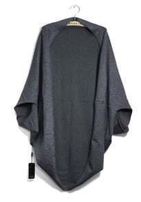 Grey Bat Sleeve Cashmere Cape Sweater