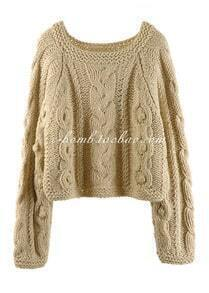 2012 Short Retro Khaki Pullover Sweater