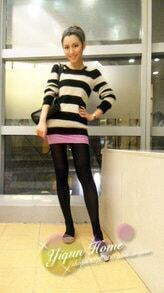 New York Fashion Week Boyfriend-style Striped Sweater Black and White