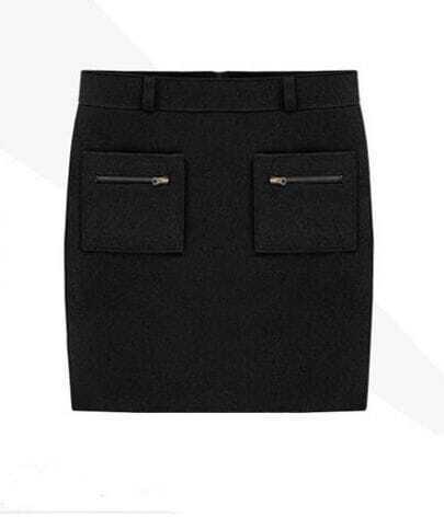 Star Stalker High Quality A-line Short Skirt Black