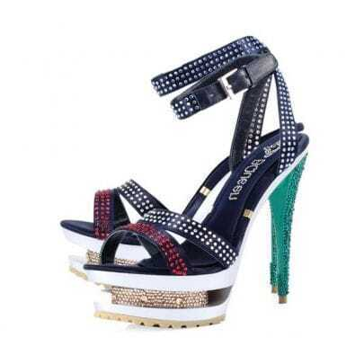 Rhinestone Navy Sandals