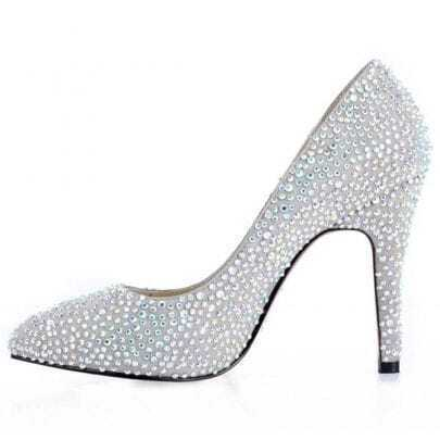 Fancy Color Diamonds Sheepskin Pumps