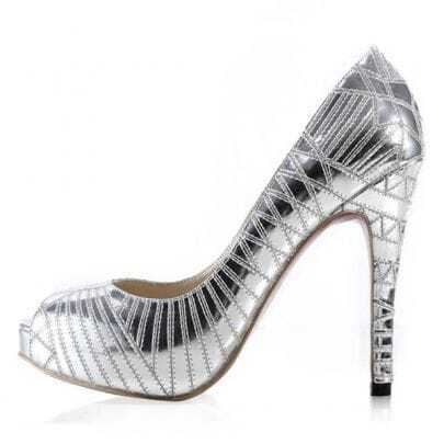 Galaxy Silver Pumps