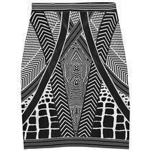 Geometric Jacquard Bandage Mini Skirt