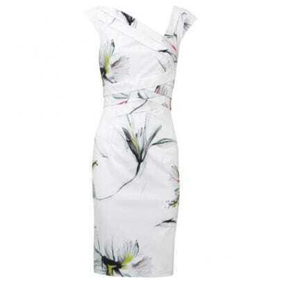 Floral Print Dress White