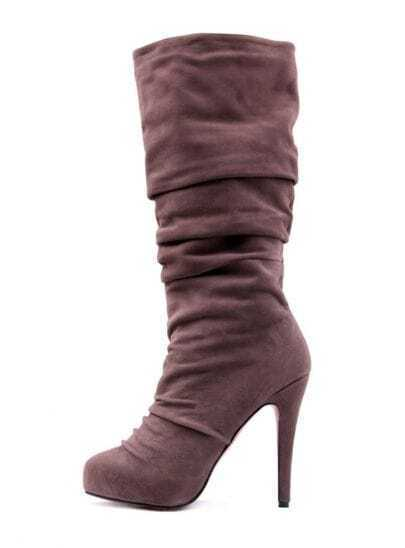 Crescent toe Brown Suede Boot