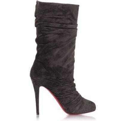 Crescent toe Grey Suede Boot