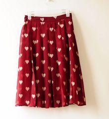 Sweet Red Dot Pleated Chiffon Romantic Skirt