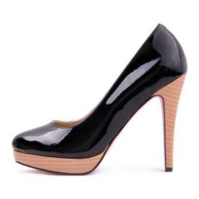 Patent Leather Platform Black Pump