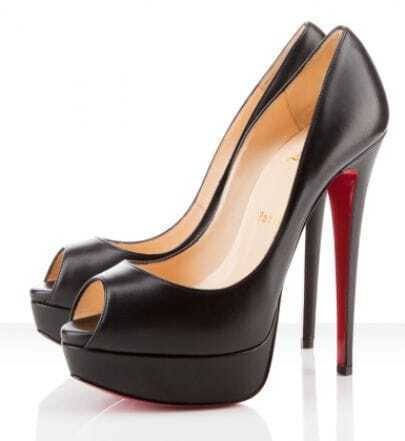 Black 150mm Peep Toe Platform pumps
