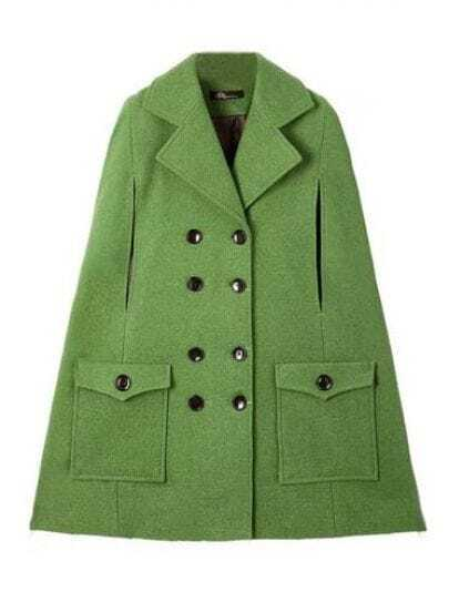 Star Stalker Batwing Style Sleeveless Green Coat