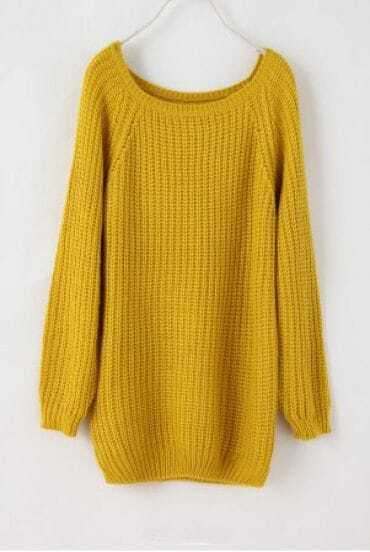 Batwing Puff Sleeve Ginger Jumpers Deep Yellow Sweater