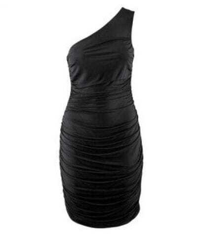 Black One-shoulder Fitted Sexy Party Dress
